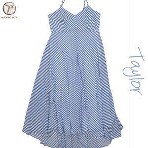 NWOT Taylor Boho Vintage Striped Midi Summer Dress